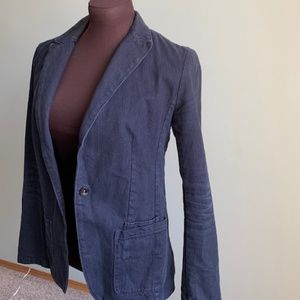 Navy Blue Corduroy Banana Republic Blazer